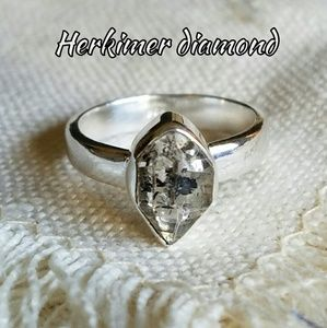 Herkimer Diamond Ring Sterling Silver NEW